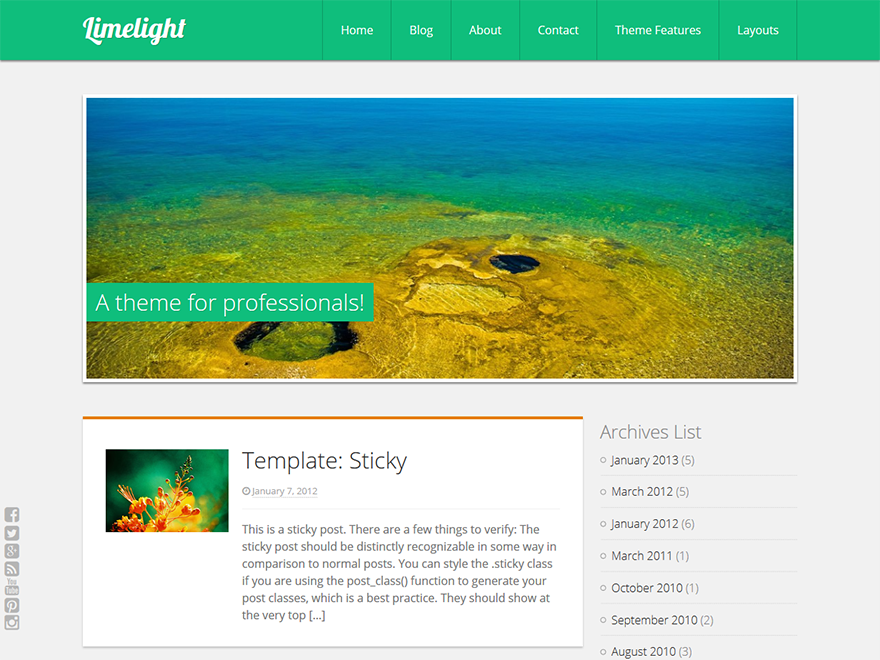 Limelight Preview Wordpress Theme - Rating, Reviews, Preview, Demo & Download