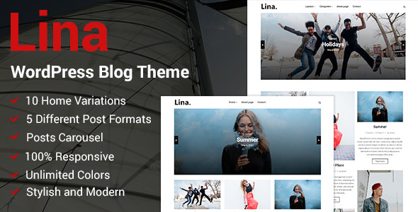 Lina Preview Wordpress Theme - Rating, Reviews, Preview, Demo & Download