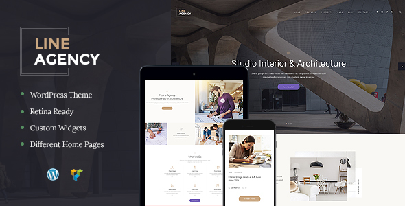 Line Agency Preview Wordpress Theme - Rating, Reviews, Preview, Demo & Download