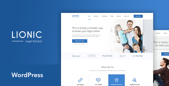 Lionic Preview Wordpress Theme - Rating, Reviews, Preview, Demo & Download