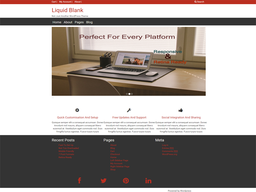 Liquid Blank Preview Wordpress Theme - Rating, Reviews, Preview, Demo & Download