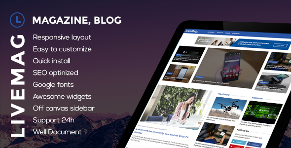 LiveMag Preview Wordpress Theme - Rating, Reviews, Preview, Demo & Download