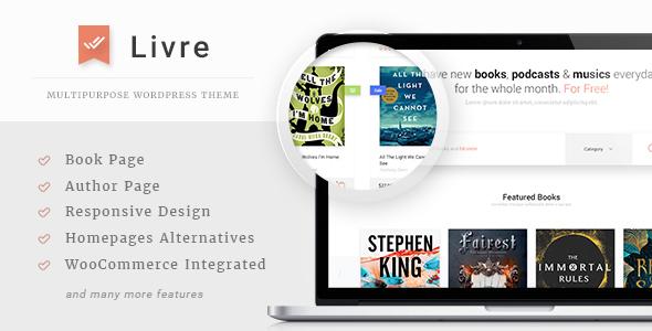 Livre Preview Wordpress Theme - Rating, Reviews, Preview, Demo & Download