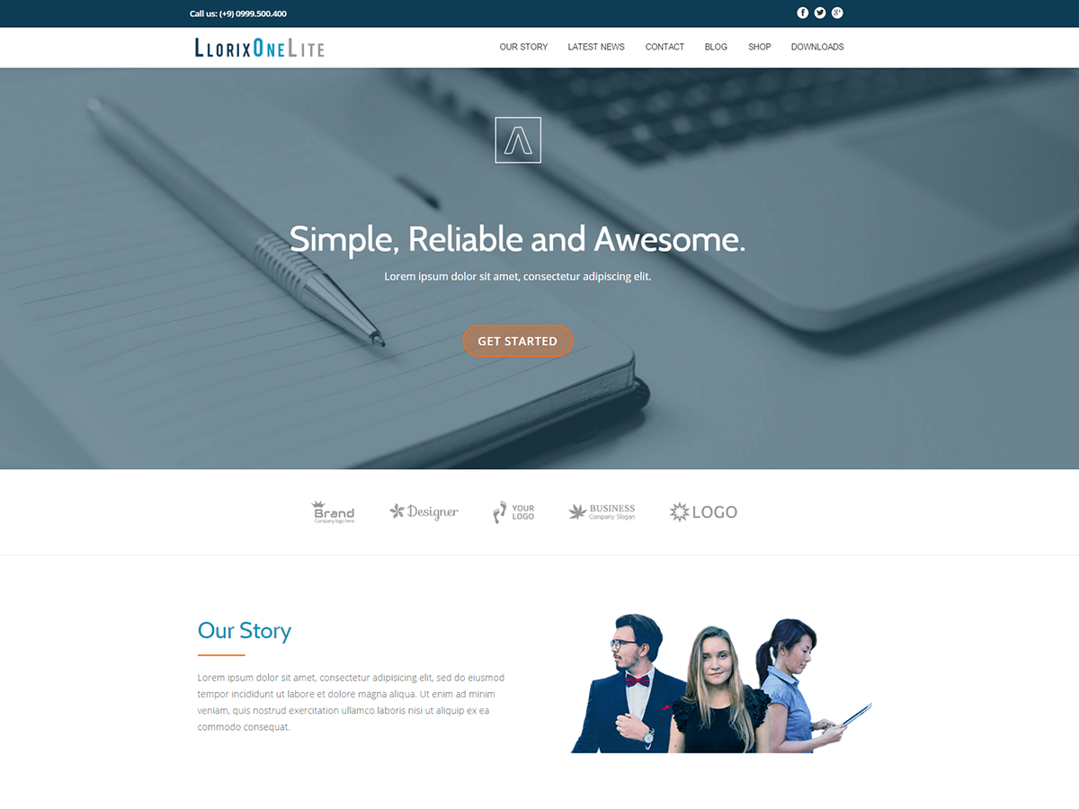 Llorix One Preview Wordpress Theme - Rating, Reviews, Preview, Demo & Download