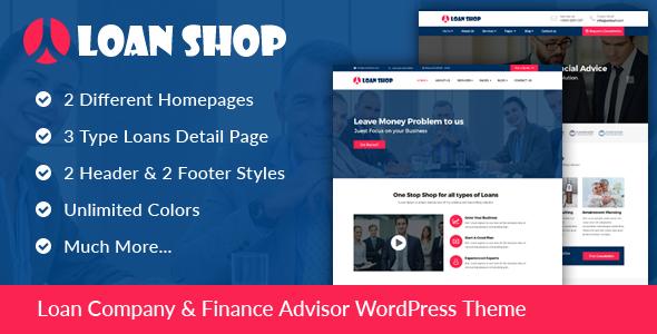 LoanShop Preview Wordpress Theme - Rating, Reviews, Preview, Demo & Download