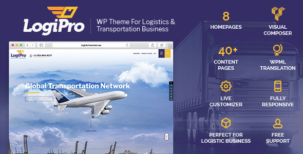 LogiPro Preview Wordpress Theme - Rating, Reviews, Preview, Demo & Download