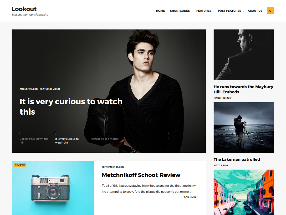 Lookout Preview Wordpress Theme - Rating, Reviews, Preview, Demo & Download