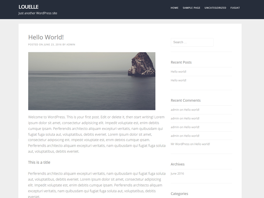 Louelle Preview Wordpress Theme - Rating, Reviews, Preview, Demo & Download