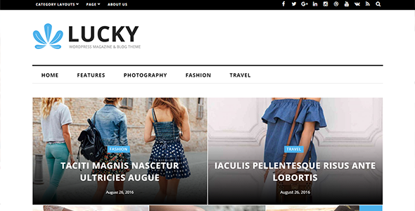 Lucky Preview Wordpress Theme - Rating, Reviews, Preview, Demo & Download