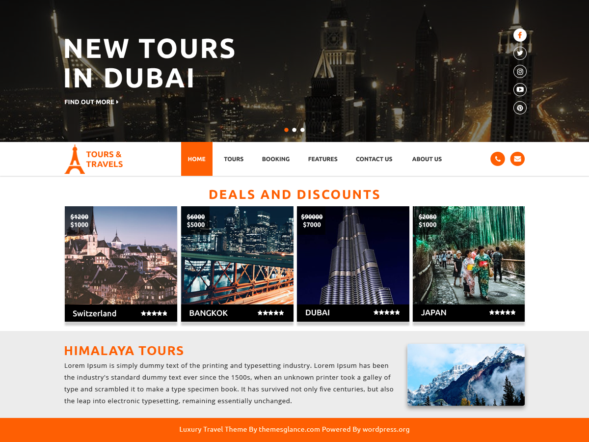 Luxury Travel Preview Wordpress Theme - Rating, Reviews, Preview, Demo & Download