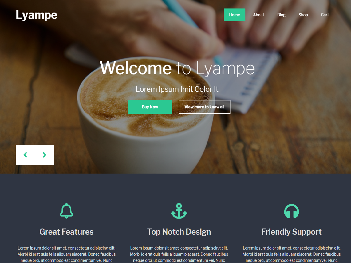 Lyampe Preview Wordpress Theme - Rating, Reviews, Preview, Demo & Download