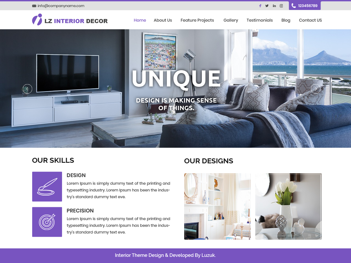 LZ Interior Preview Wordpress Theme - Rating, Reviews, Preview, Demo & Download