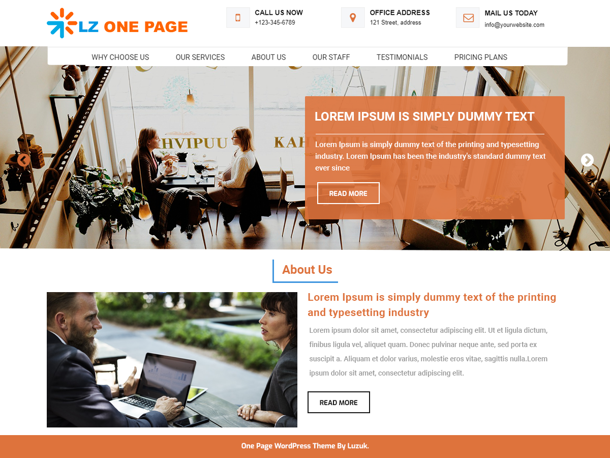 LZ One Preview Wordpress Theme - Rating, Reviews, Preview, Demo & Download