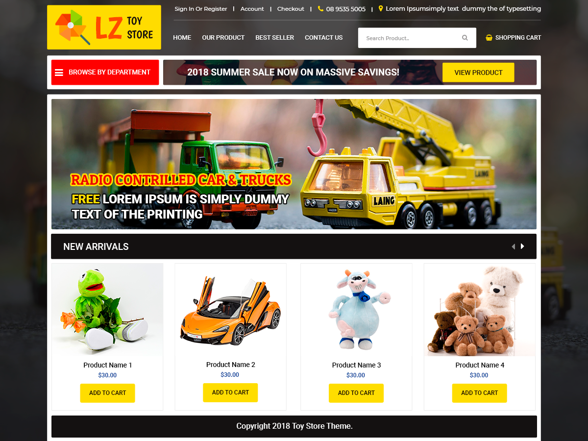 LZ Toy Preview Wordpress Theme - Rating, Reviews, Preview, Demo & Download