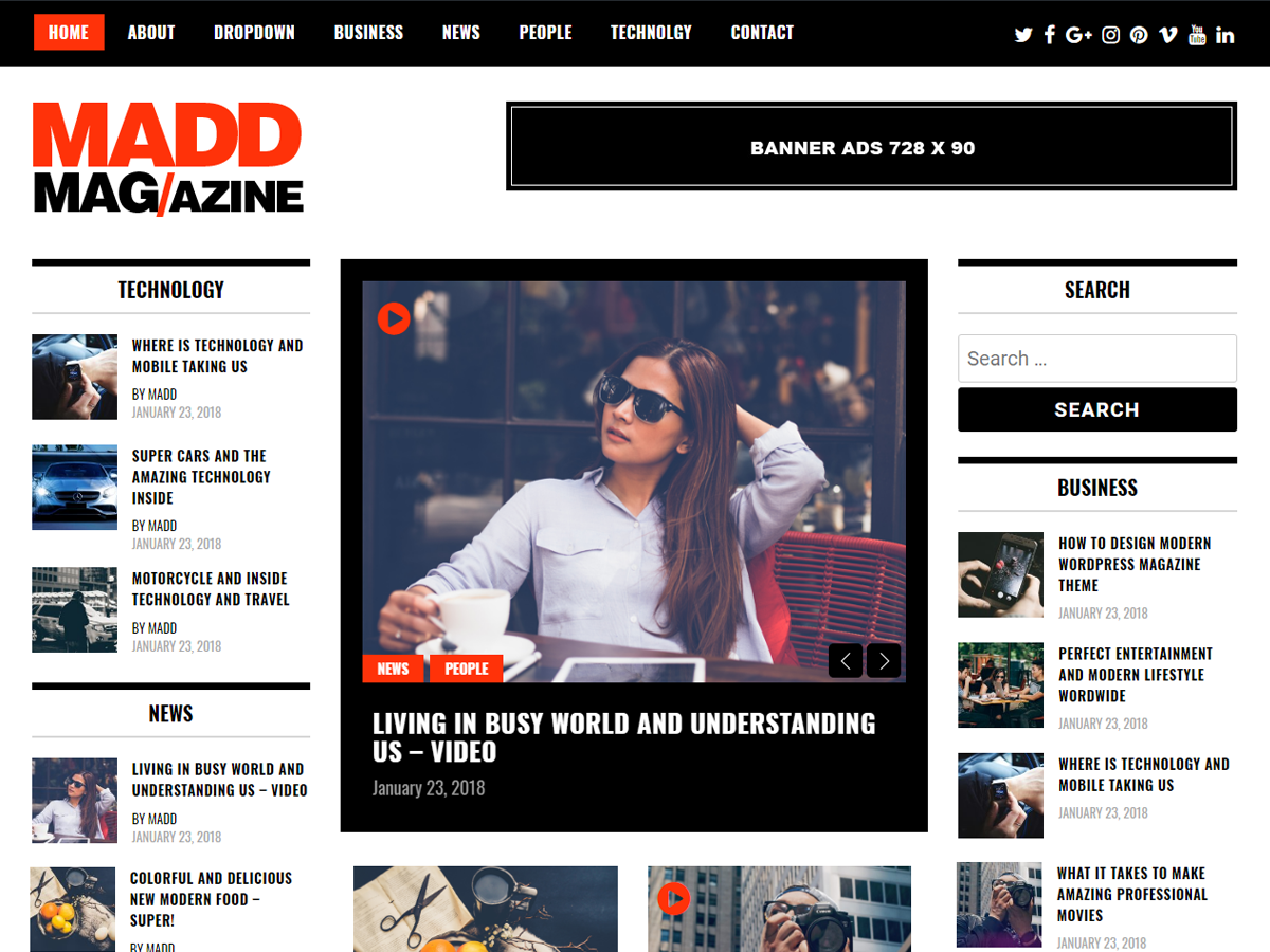 Madd Magazine Preview Wordpress Theme - Rating, Reviews, Preview, Demo & Download