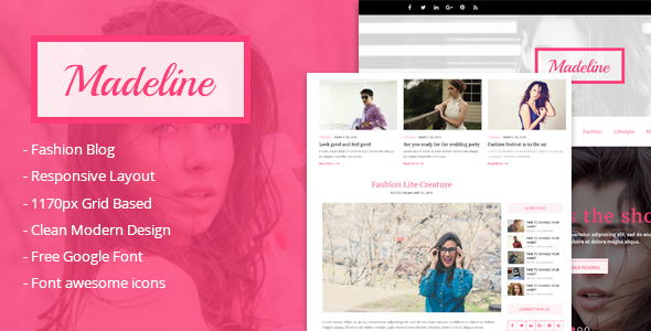 Madeline Fashion Preview Wordpress Theme - Rating, Reviews, Preview, Demo & Download