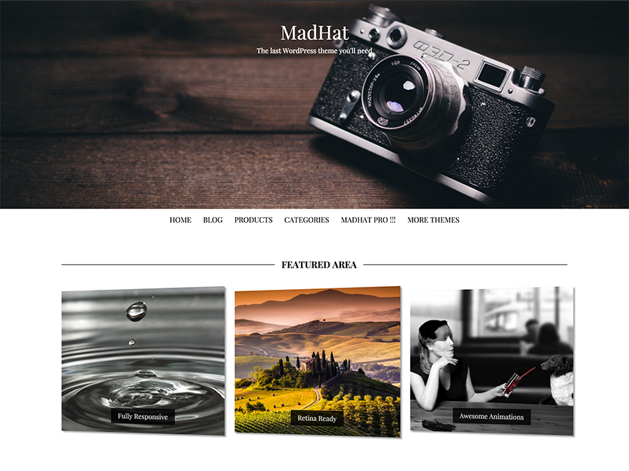 MadHat Preview Wordpress Theme - Rating, Reviews, Preview, Demo & Download