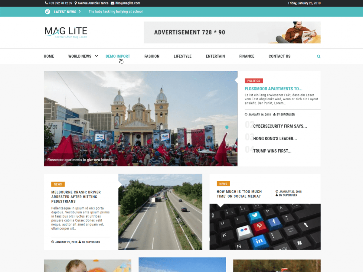 Mag Lite Preview Wordpress Theme - Rating, Reviews, Preview, Demo & Download