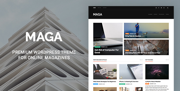 Maga Preview Wordpress Theme - Rating, Reviews, Preview, Demo & Download