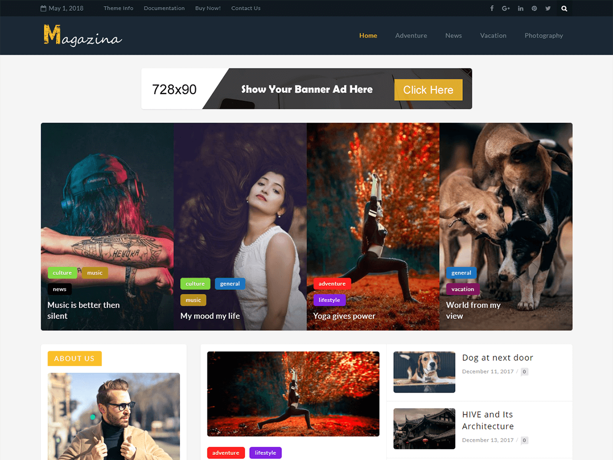 Magazina Preview Wordpress Theme - Rating, Reviews, Preview, Demo & Download