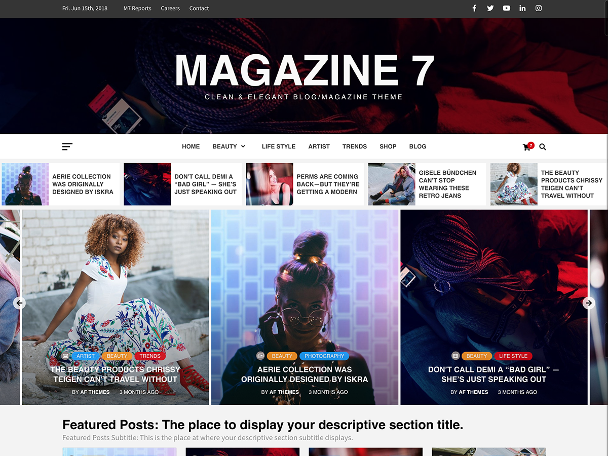 Magazine 7 Preview Wordpress Theme - Rating, Reviews, Preview, Demo & Download
