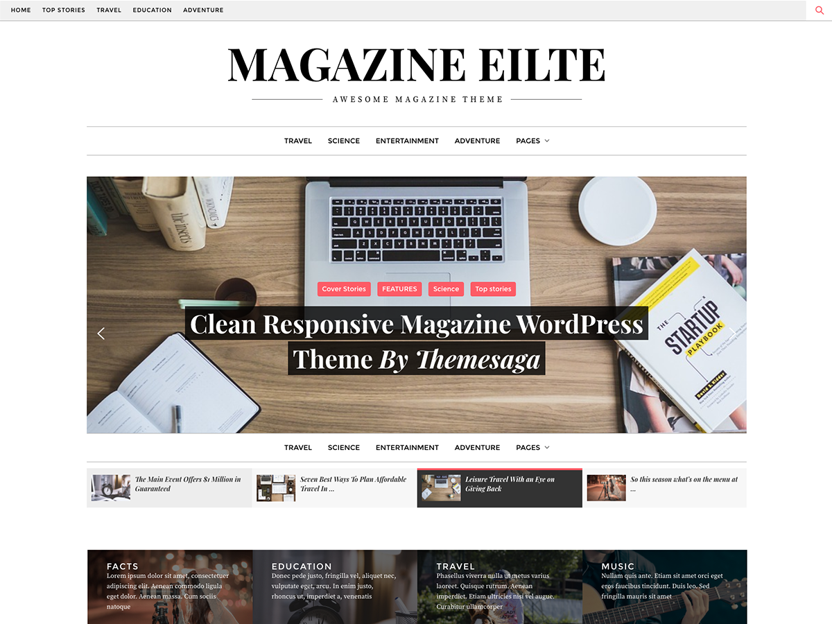 Magazine Elite Preview Wordpress Theme - Rating, Reviews, Preview, Demo & Download