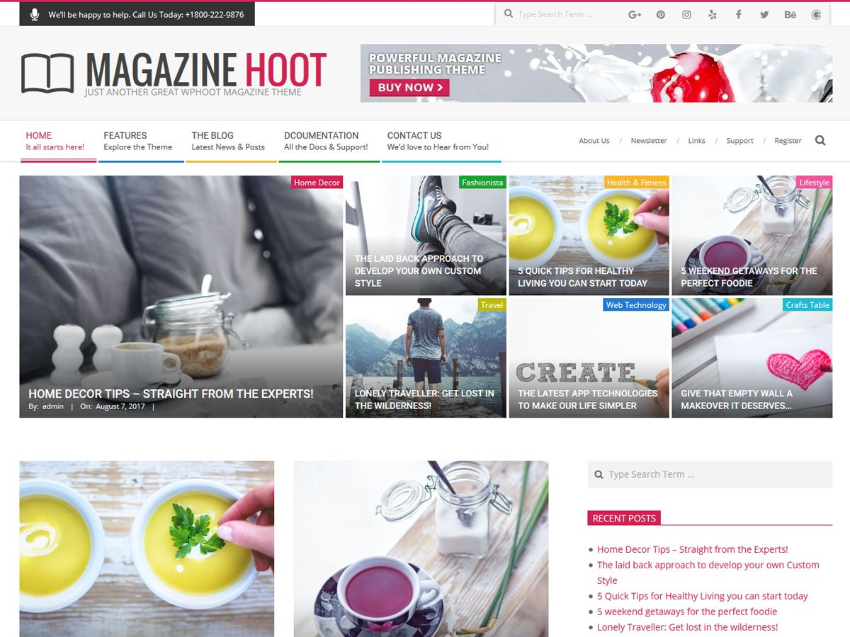 Magazine Hoot Preview Wordpress Theme - Rating, Reviews, Preview, Demo & Download