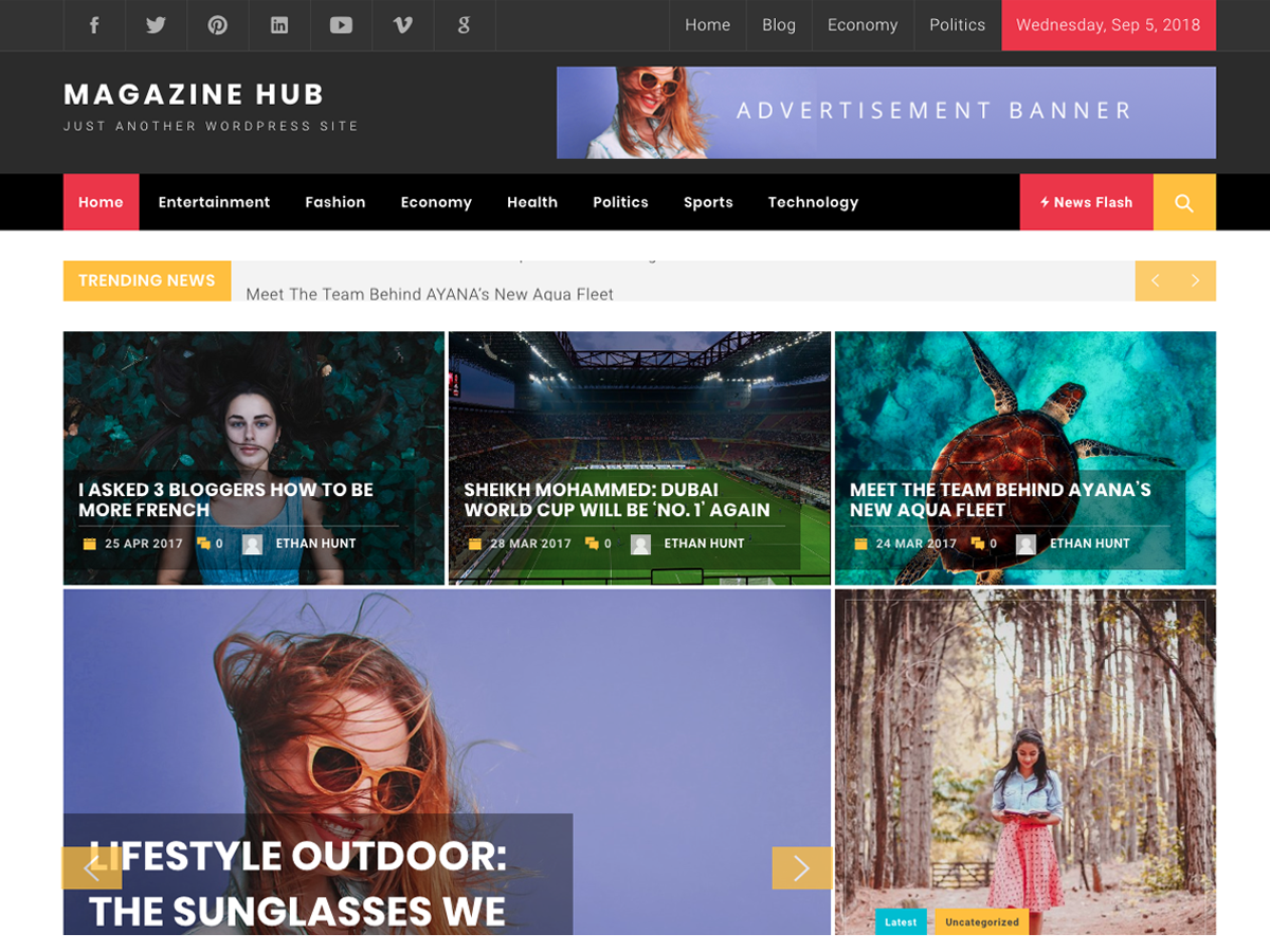 Magazine Hub Preview Wordpress Theme - Rating, Reviews, Preview, Demo & Download