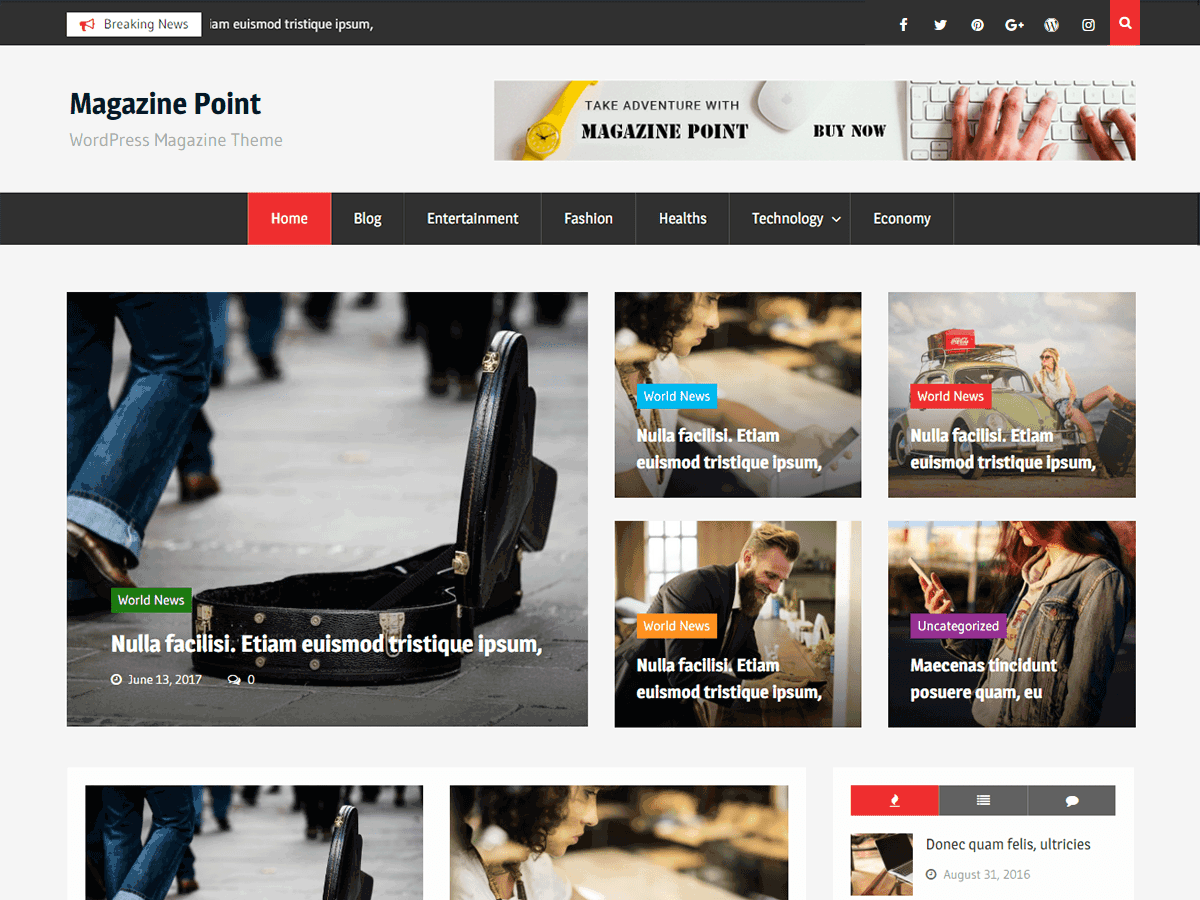 Magazine Point Preview Wordpress Theme - Rating, Reviews, Preview, Demo & Download