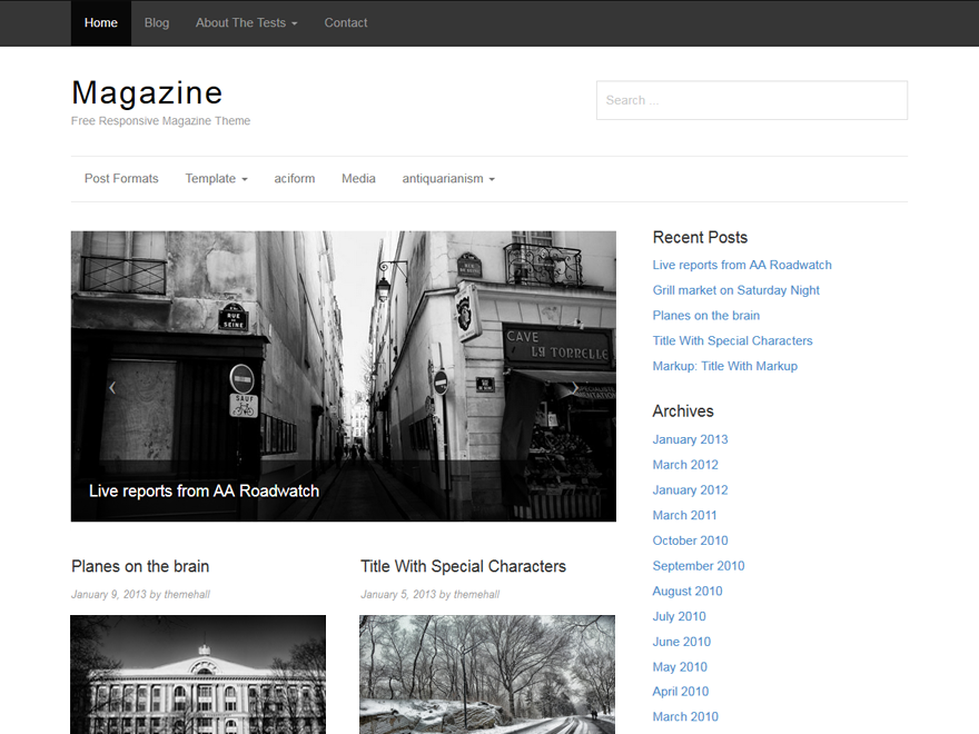 Magazine Preview Wordpress Theme - Rating, Reviews, Preview, Demo & Download