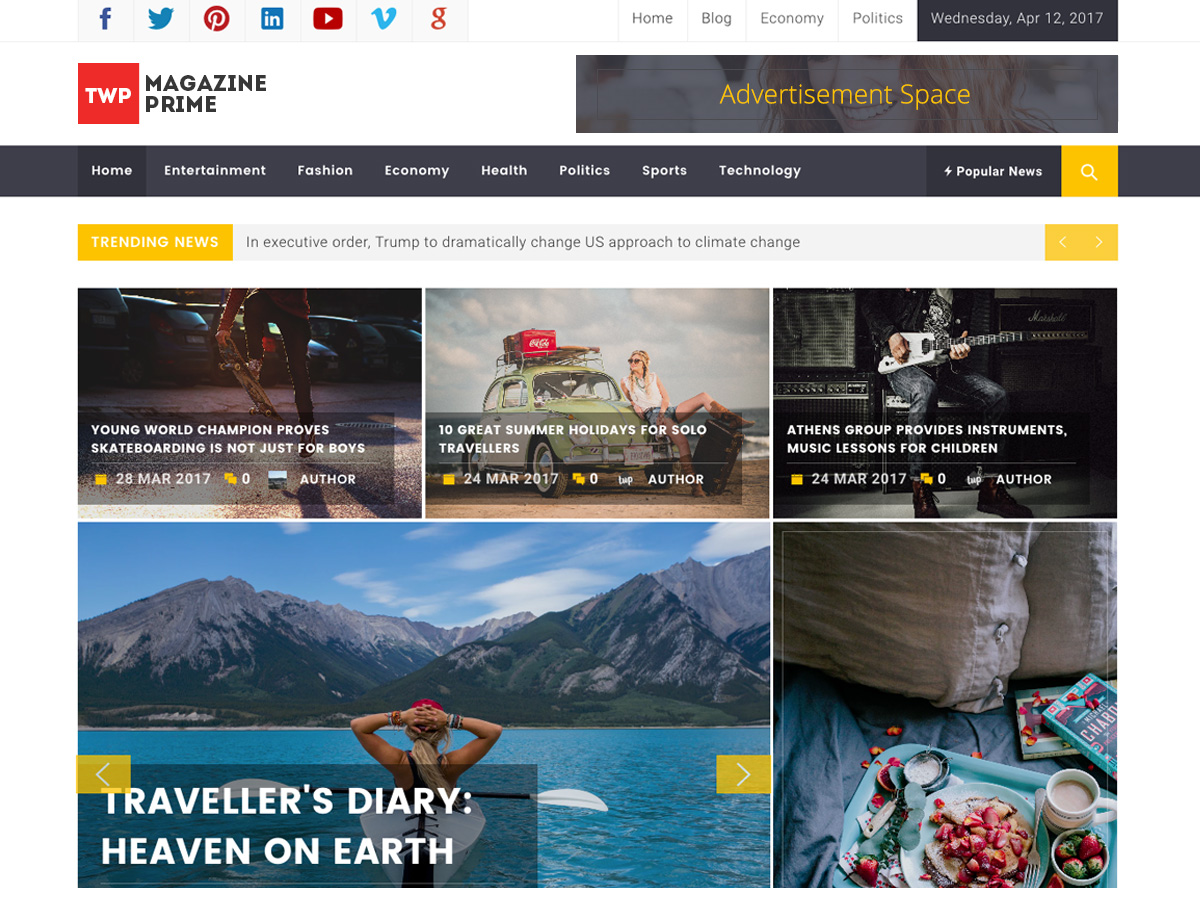 Magazine Prime Preview Wordpress Theme - Rating, Reviews, Preview, Demo & Download