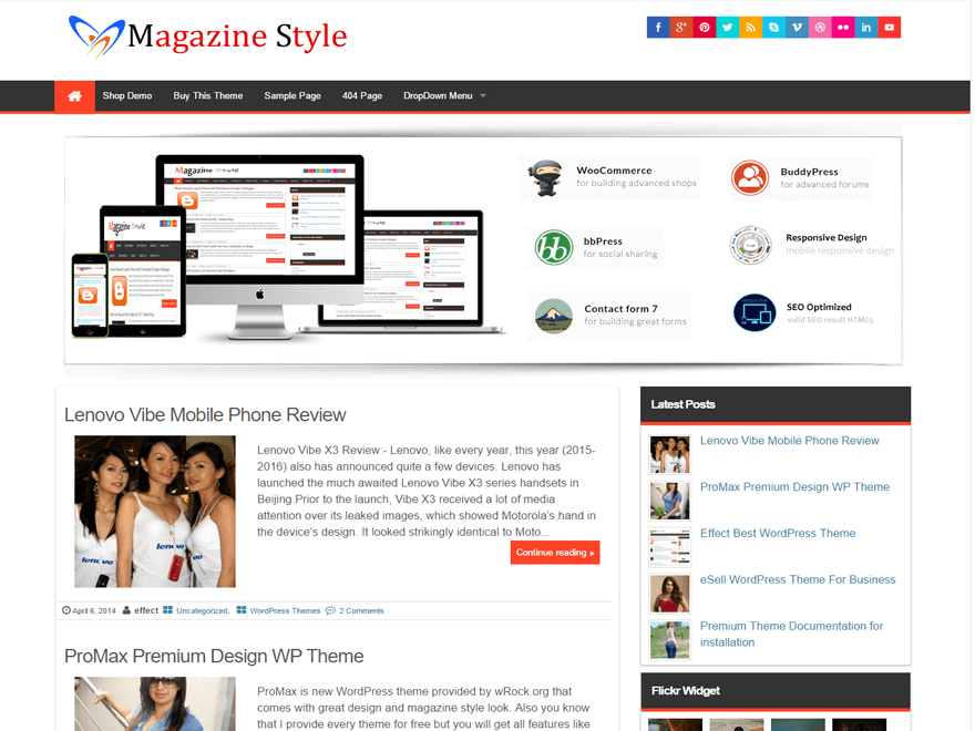 Magazine Style Preview Wordpress Theme - Rating, Reviews, Preview, Demo & Download