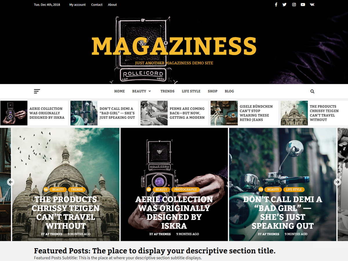Magaziness Preview Wordpress Theme - Rating, Reviews, Preview, Demo & Download