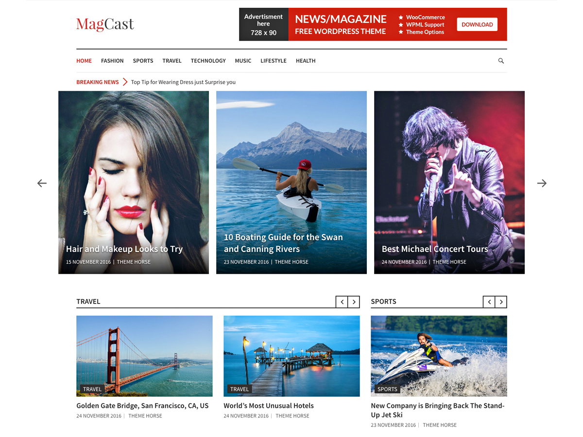Magcast Preview Wordpress Theme - Rating, Reviews, Preview, Demo & Download