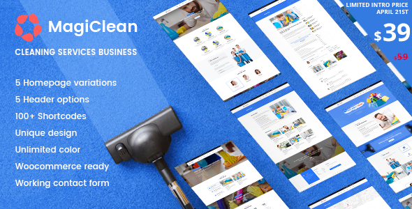 MagiClean Preview Wordpress Theme - Rating, Reviews, Preview, Demo & Download