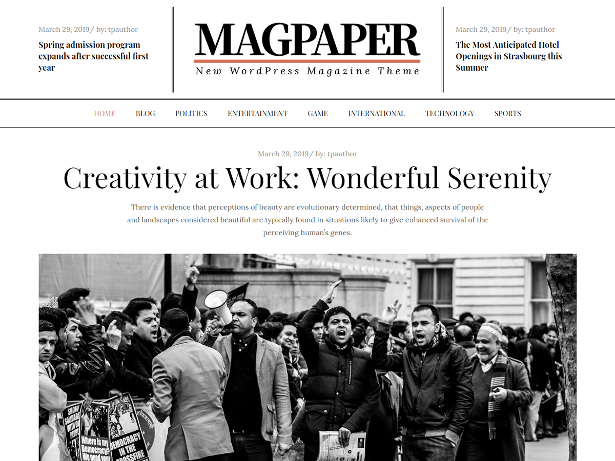 Magpaper Preview Wordpress Theme - Rating, Reviews, Preview, Demo & Download