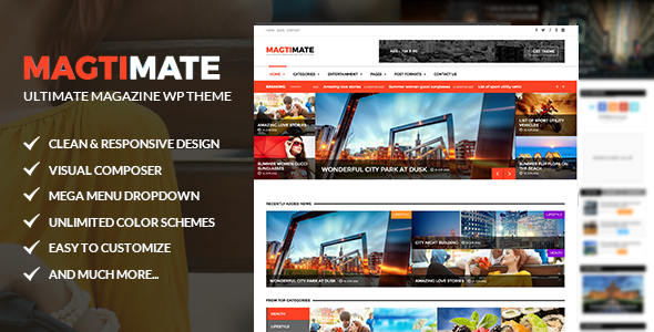 Magtimate Preview Wordpress Theme - Rating, Reviews, Preview, Demo & Download