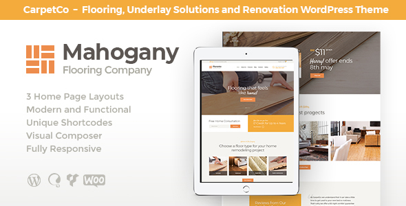 Mahogany Preview Wordpress Theme - Rating, Reviews, Preview, Demo & Download