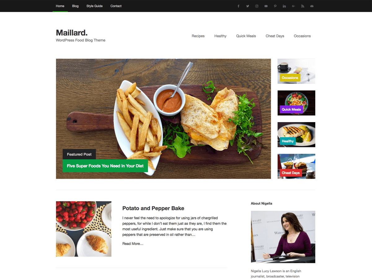 Maillard Preview Wordpress Theme - Rating, Reviews, Preview, Demo & Download