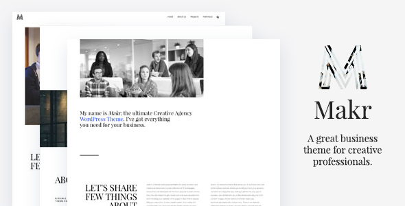 Makr Preview Wordpress Theme - Rating, Reviews, Preview, Demo & Download