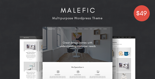 Malefic Preview Wordpress Theme - Rating, Reviews, Preview, Demo & Download