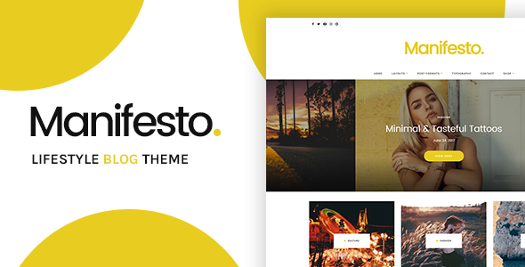 Manifesto Preview Wordpress Theme - Rating, Reviews, Preview, Demo & Download