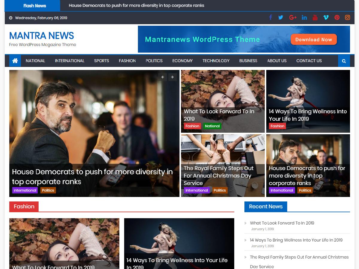 Mantranews Preview Wordpress Theme - Rating, Reviews, Preview, Demo & Download