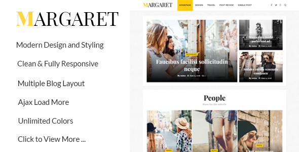 Margaret Preview Wordpress Theme - Rating, Reviews, Preview, Demo & Download