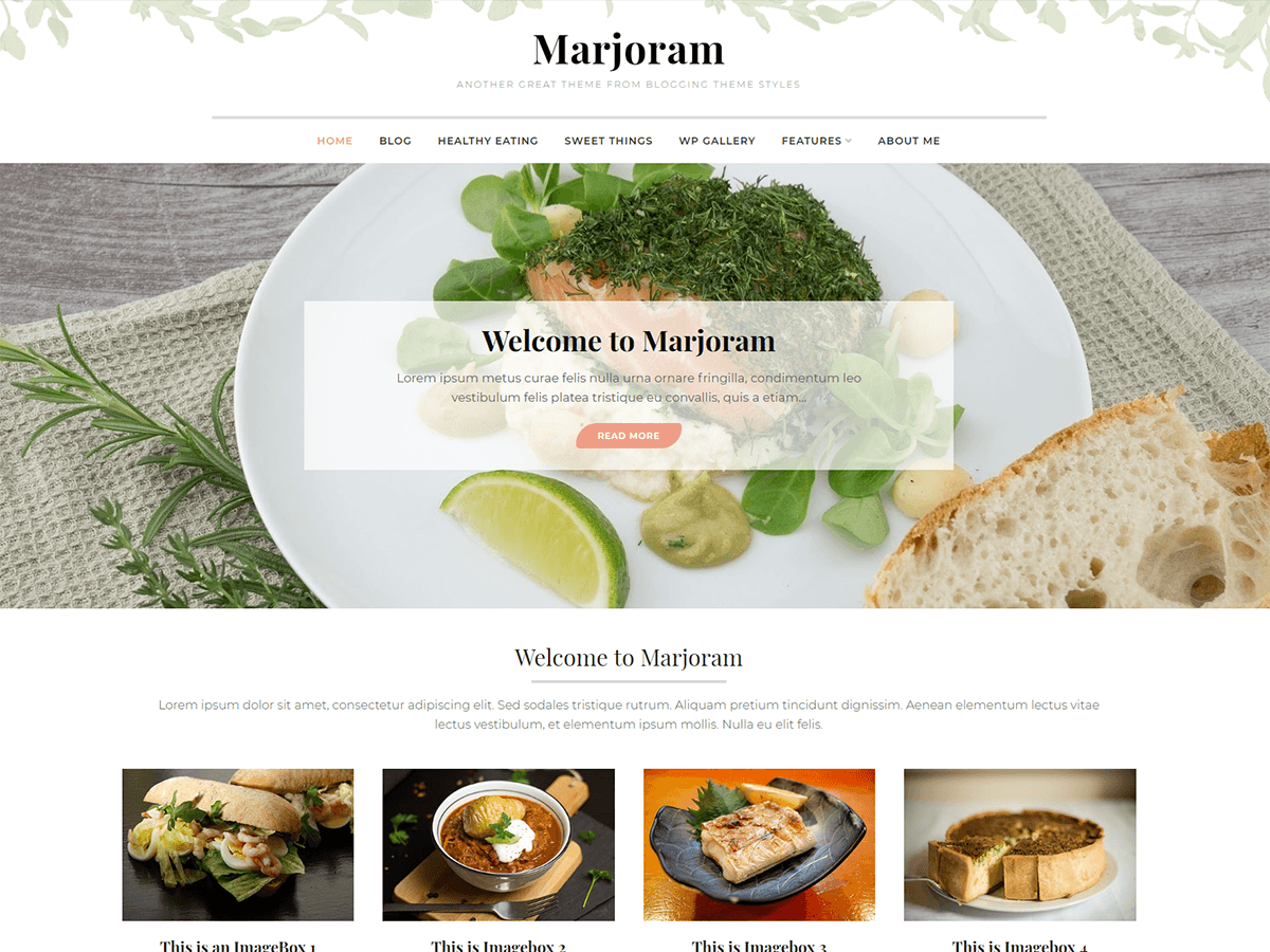 Marjoram Preview Wordpress Theme - Rating, Reviews, Preview, Demo & Download