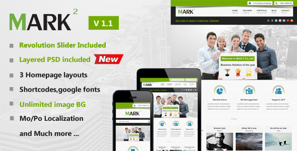 Mark2 Multi Preview Wordpress Theme - Rating, Reviews, Preview, Demo & Download