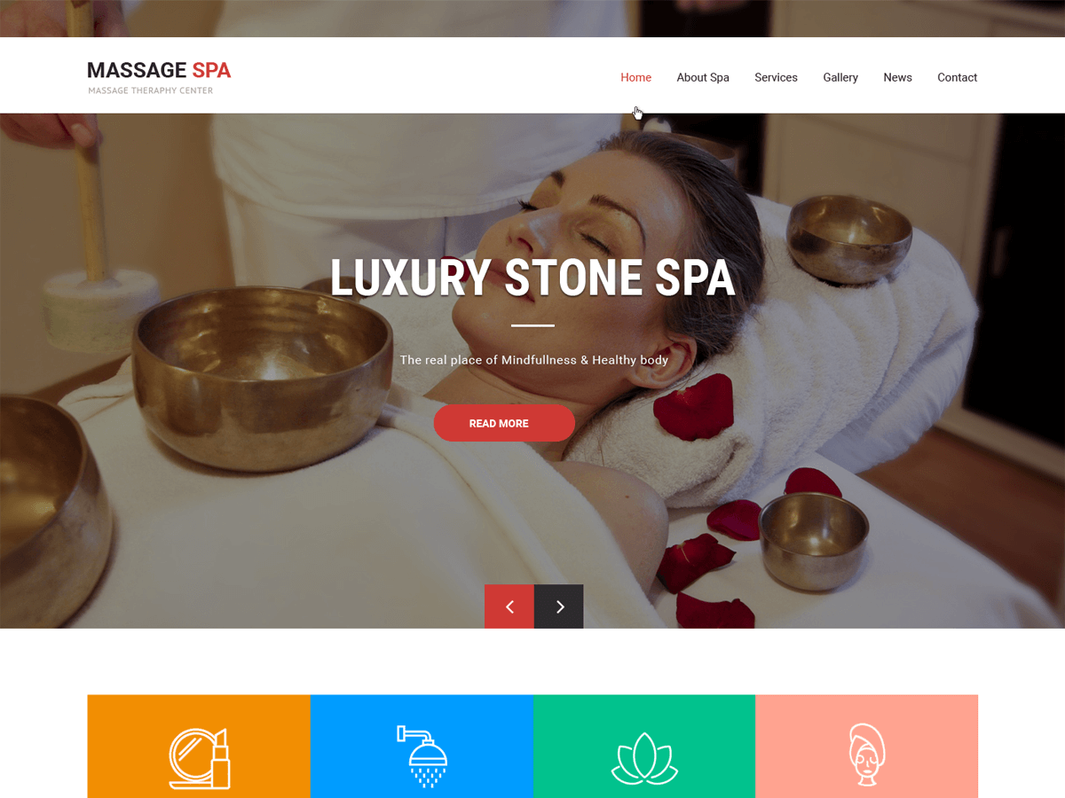 Massage Spa Preview Wordpress Theme - Rating, Reviews, Preview, Demo & Download