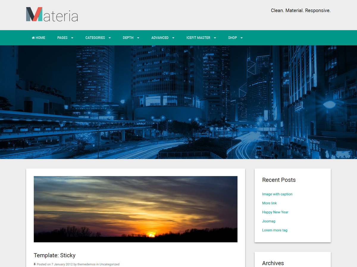 Materia Lite Preview Wordpress Theme - Rating, Reviews, Preview, Demo & Download