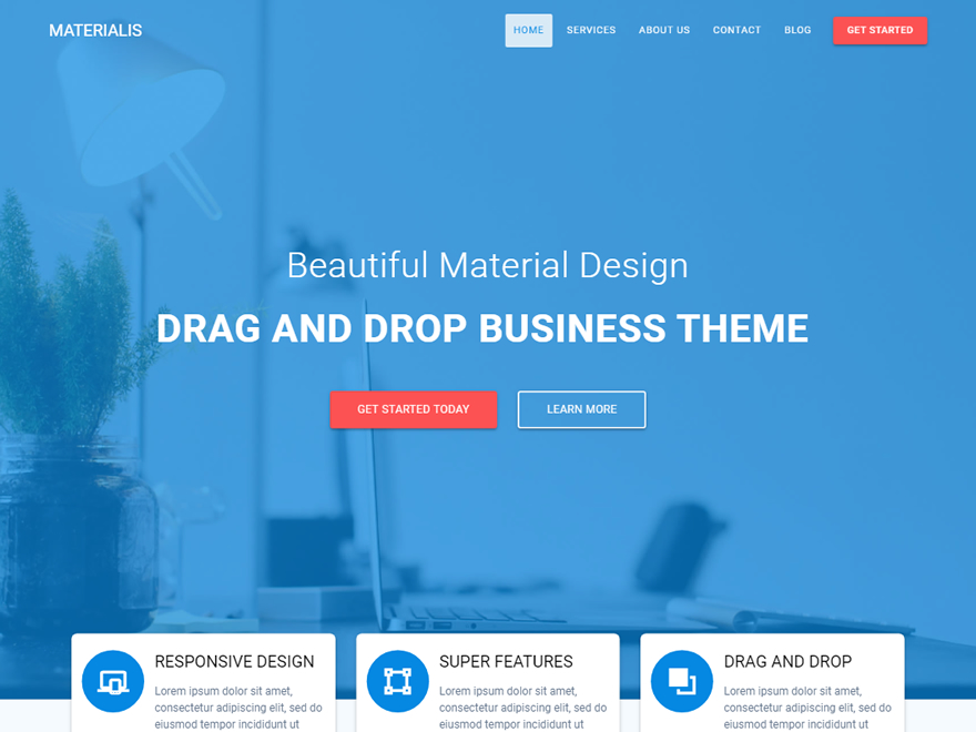 Materialis Preview Wordpress Theme - Rating, Reviews, Preview, Demo & Download