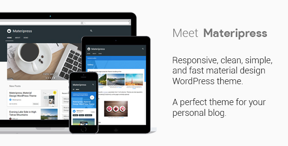 Materipress Preview Wordpress Theme - Rating, Reviews, Preview, Demo & Download